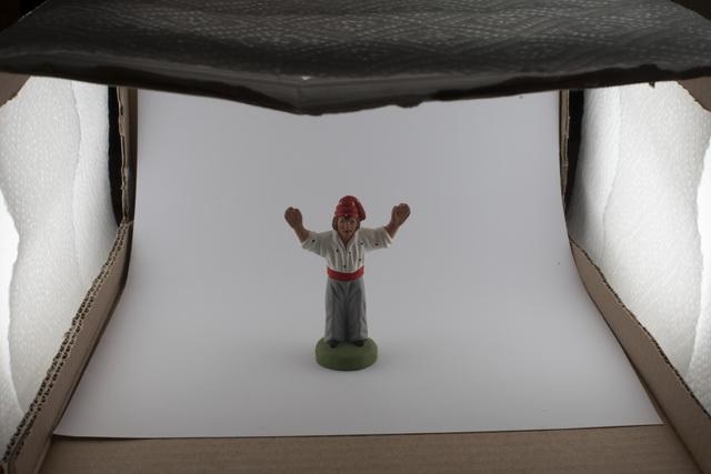 Studio de Rue - réglage des flashs dans la boîte à lumière. Trop faible!