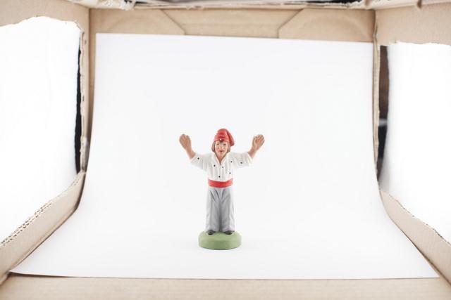 Studio de Rue - réglage des flashs dans la boîte à lumière. Juste bien!
