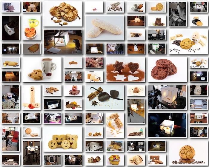 Mosaïque de tous les biscuits