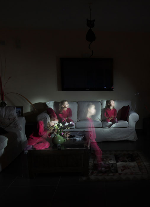 Exemple de photographie de Halloween en utilisant le light painting