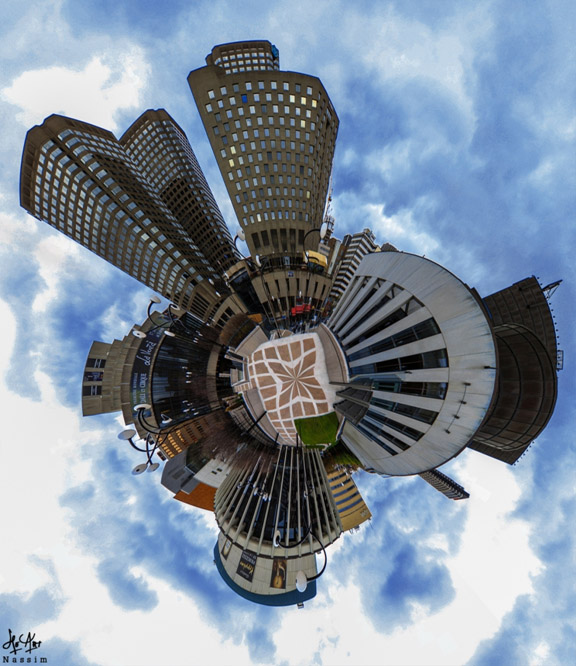 Cours photo - comment prendre des panoramas type Little Planet. Résultat fini.