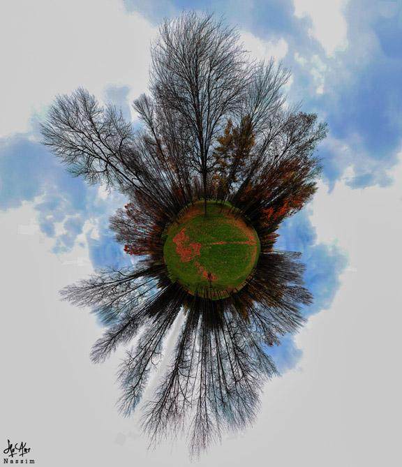Little Planet - résultat final après traitement autopano pro et Photoshop