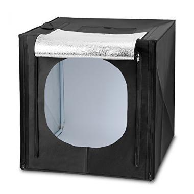 Amzdeal Kit Photo Studio Boite de lumiere avec eclairage LED, Tente cube pliable @ Amazon.fr