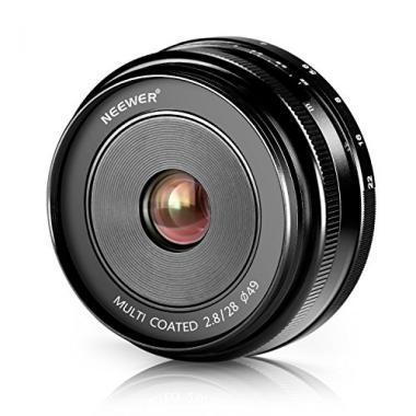 Neewer 28mm f/2,8 Objectif Fixe Focus Manuel pour FUJIFILM APS-C Appareil Photo @ Amazon.fr