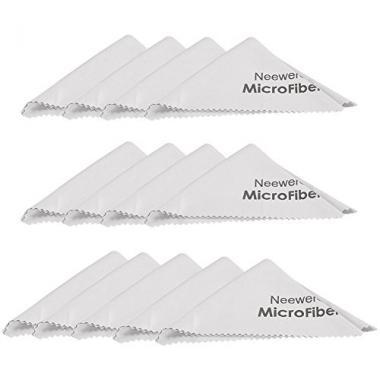 Neewer Kit Chiffons Microfibres de Nettoyage Gris Tissus Lavables pour Verres Le @ Amazon.fr