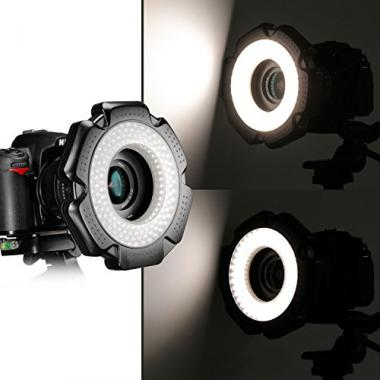 Neewer R-160 160 Pieces 5600K 10W Mini LED Macro Light Ring avec 6 Torches (49m @ Amazon.fr