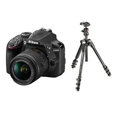 Nikon D3400 + Manfrotto Trepied 290B Befree + Objectif 18-55 mm @ Amazon.fr
