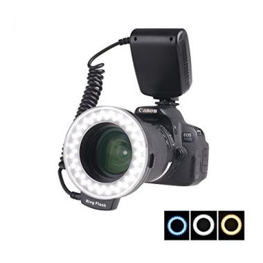 SAMTIAN RF-600D Anneau 18 LED Ultra Brillant et LegereLED Flash Annulaire avec u @ Amazon.fr