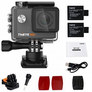ThiEYE i60e 4K camera d'action de sport 60M etanche Wifi 12MP FHD 2.0 pouces d'e @ Amazon.fr