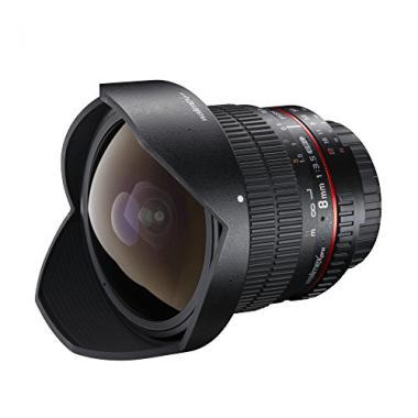 Walimex Pro Fish-Eye II 8mm 1:3,5 DSLR Objectif pour monture dobjectif Canon EF-S noir (avec pare-soleil amovible) @ Amazon.fr
