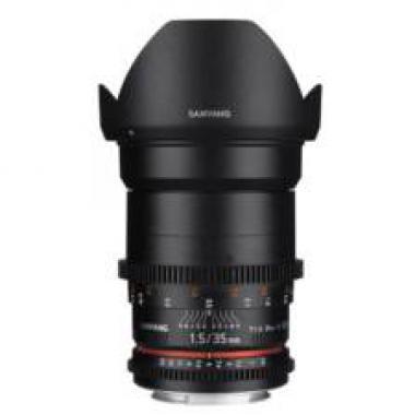 SAMYANG 35 mm T1.5 VDSLR II monture CANON objectif video @ Miss Numerique