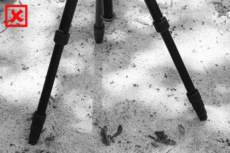 Comment utiliser son trépied sur le sable