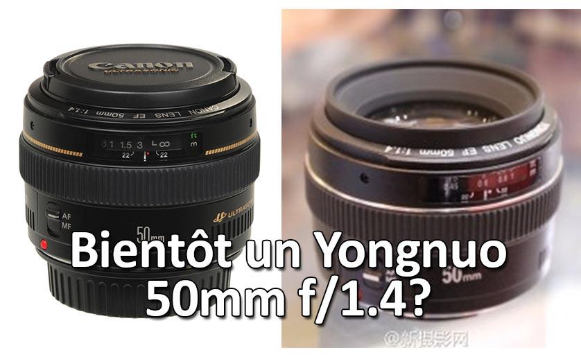 Un nouveau Yongnuo 50mm f/1.4?