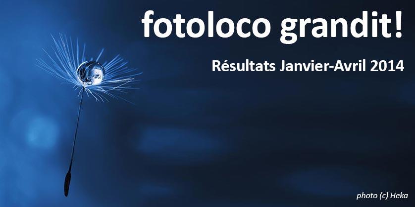 fotoloco grandit - resultats Janvier a Avril 2014