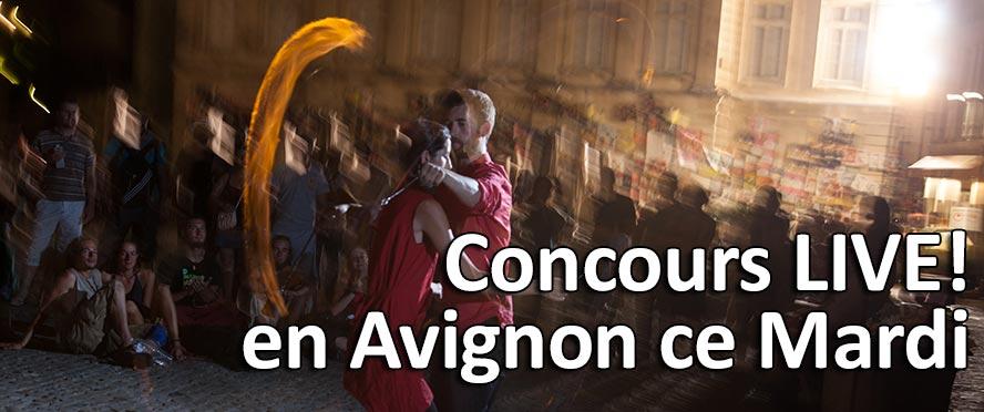 Concours Live en Avignon