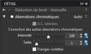 Aberration Chromatique DXO