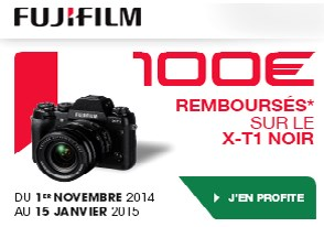 Fuji XT-1 100€ remboursés jusqu'au 15 Janvier 2015