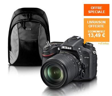 Nikon D7100 + AF-S DX 18-105 VR + Sac à dos Nikon