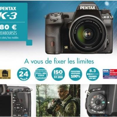 Pentax K-3, K-50 et K-S1 jusqu'à 80€ remboursés @ Amazon