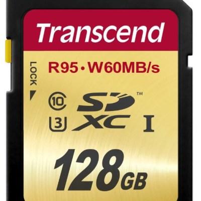 Carte mémoire Transcend SDXC UHS-I U3 128Go - 72€ @ Amazon.de