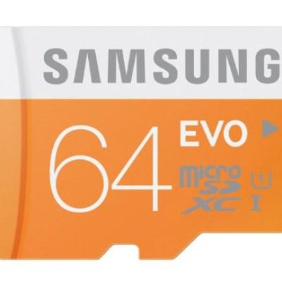 Carte Micro SD Samsung 64 Go Classe 10 @ Amazon