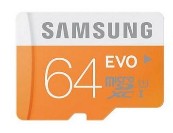 Carte mémoire Micro SDXC Samsung EVO - 64 Go - Classe 10 à 24.98€ @ Rueducommerce