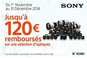 Sony: jusqu'à 120€remboursés sur les appareils photos et objectifs