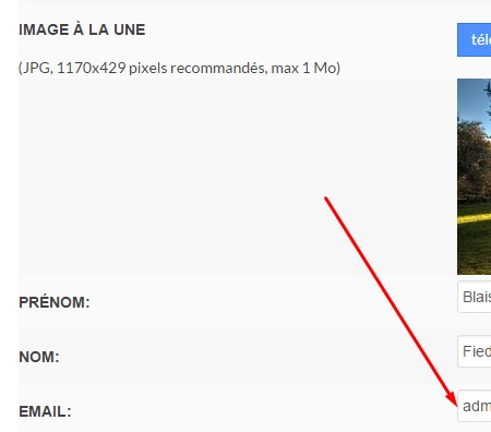 changer son adresse email