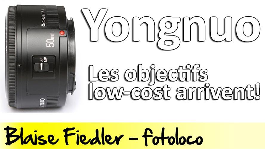 Yongnuo Objectifs Low Cost Canon 50mm f/1.8 et teleconvertisseur 2x