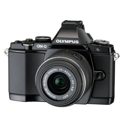 Hybride Olympus E-M5 Silver + Objectif 14-42mm Noir