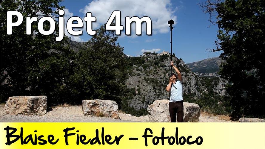 Projet 4m: comment photographier à 'm de haut grace a un monopod