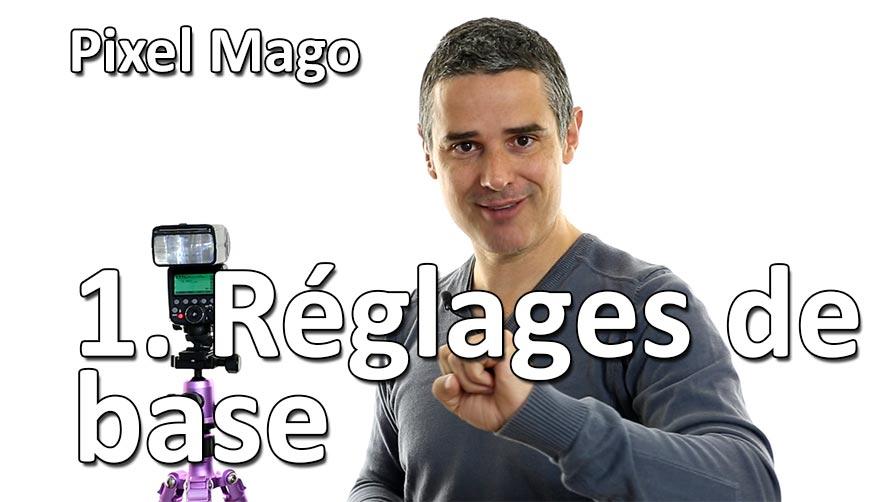 Studio de Rue Strobist Pixel Mago reglages de base comment bien utiliser