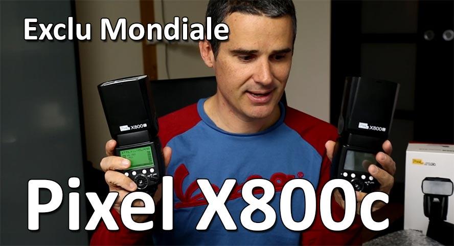 Premieres impressions pixel x800c flash strobist studio de rue eTTL ttl
