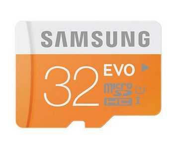 Carte mémoire Micro SDHC SAMSUNG EVO - 32 Go - Classe 10 @Rue du commerce