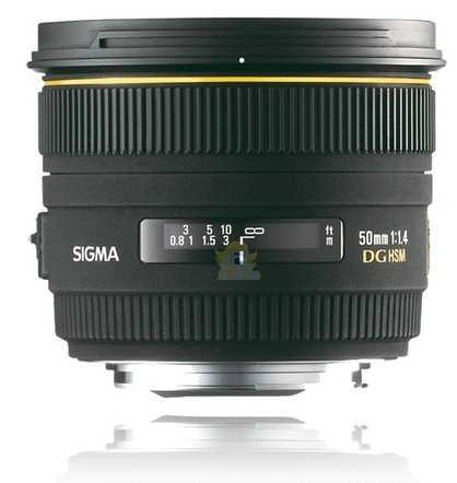 Sigma 50mm F1,4 EX DG HSM Objectif pour canon