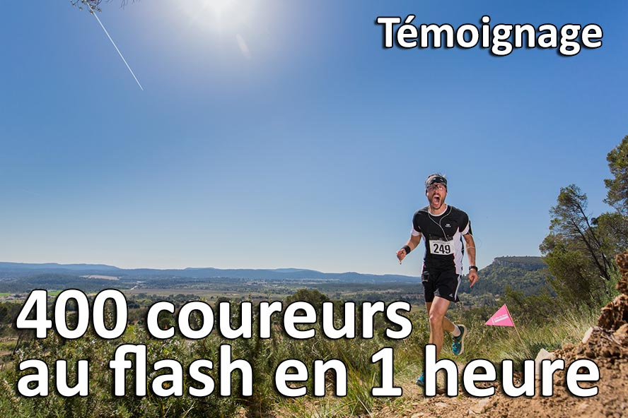400 coureurs au flash en 1 heure