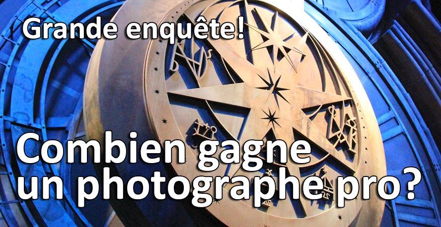 Combien gagne un photographe professionnel