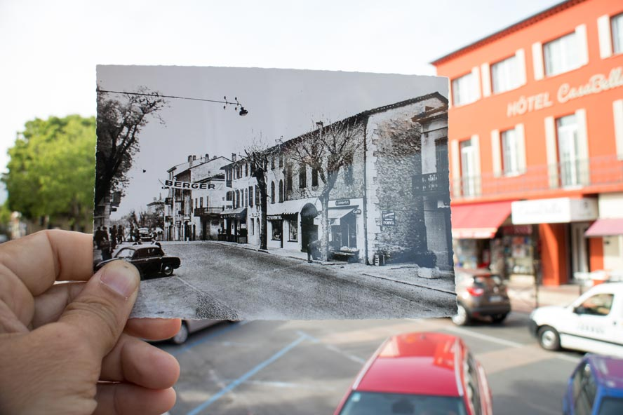 carte postale ancienne et nouvelle ville