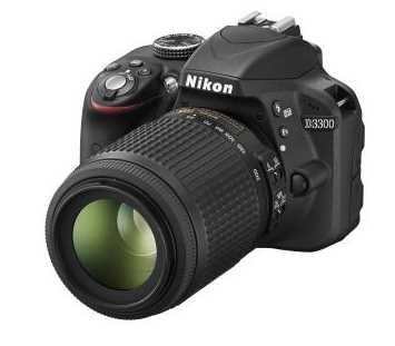 Nikon D3300 + AFS 18 - 55 mm VR II + 55 - 200 mm VR II + Fourre-tout @ FNAC