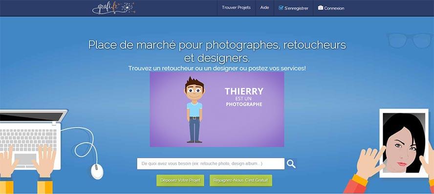 grafi.fr place de marche photographes designers retoucheurs