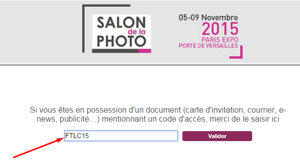 salon de la photo 2015 invitation gratuite