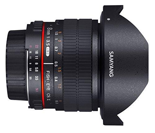 Canon EF 8 mm Samyang F//3.5 Aspherical UMC CS II Oeil-de-poisson