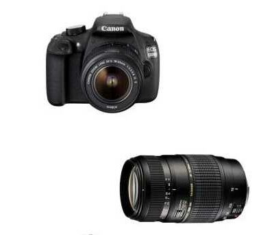 Canon EOS 1200D + objectif EF-S 18-55 mm IS II + Tamron AF Di 70 - 300 mm f/4.0 - 5.6 @ fnac