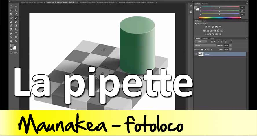 tuto photoshop la pipette