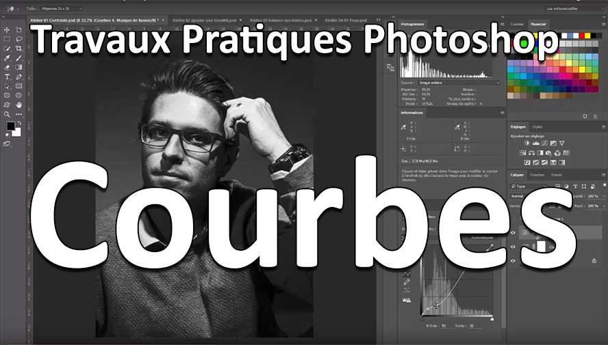 photoshop courbe de niveaux travaux pratiques
