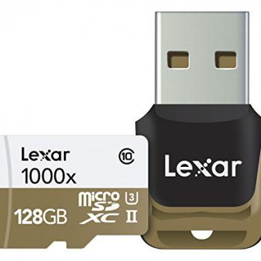Lexar 128 Go Carte Micro SD UHS-II  avec Lecteur de carte memoire USB 3.0 pour Appareil photo 990028 @ Amazon.fr
