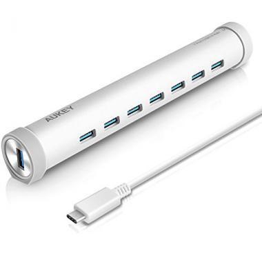 AUKEY Hub USB C vers USB 3.0 * 7 ports en Aluminium , Type C Hub pour MacBook 2015 , ChromeBook Pixel et les autres appareils avec usb c ports Agrent @ Amazon.fr