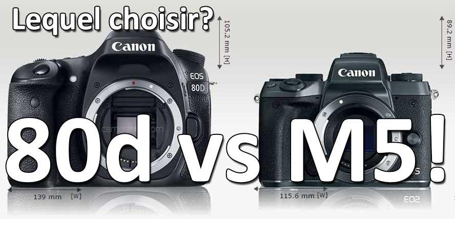 Canon 80d vs Canon M5