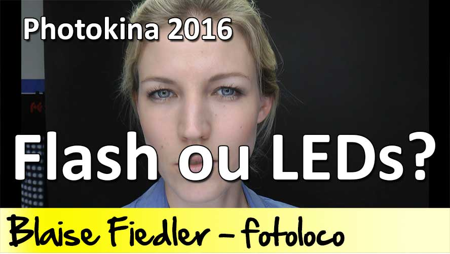 eclairage studio flash vs leds
