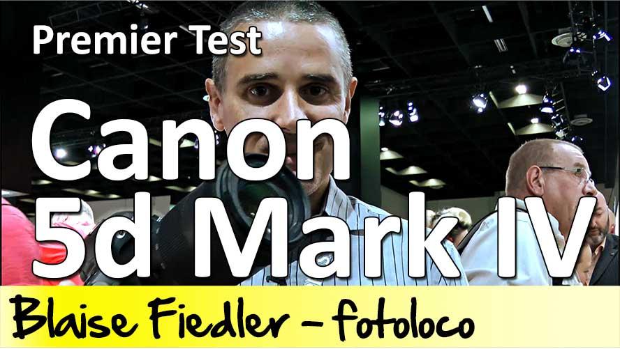 Premier test Canon 5d mark IV